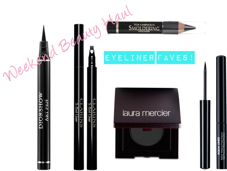 Weekend Beauty Haul: Fave Eyeliners!