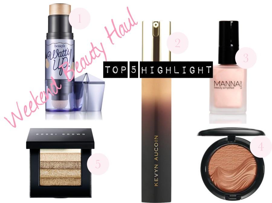 Weekend Beauty Haul: Top Five Highlighters!