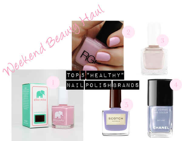 "Weekend Beauty Haul: Top ""Healthy"" Nail Polish Brands"