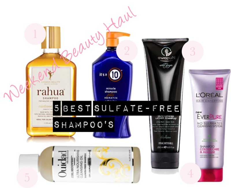 Weekend Beauty Haul: 5 Best Sulfate-Free Shampoo's!