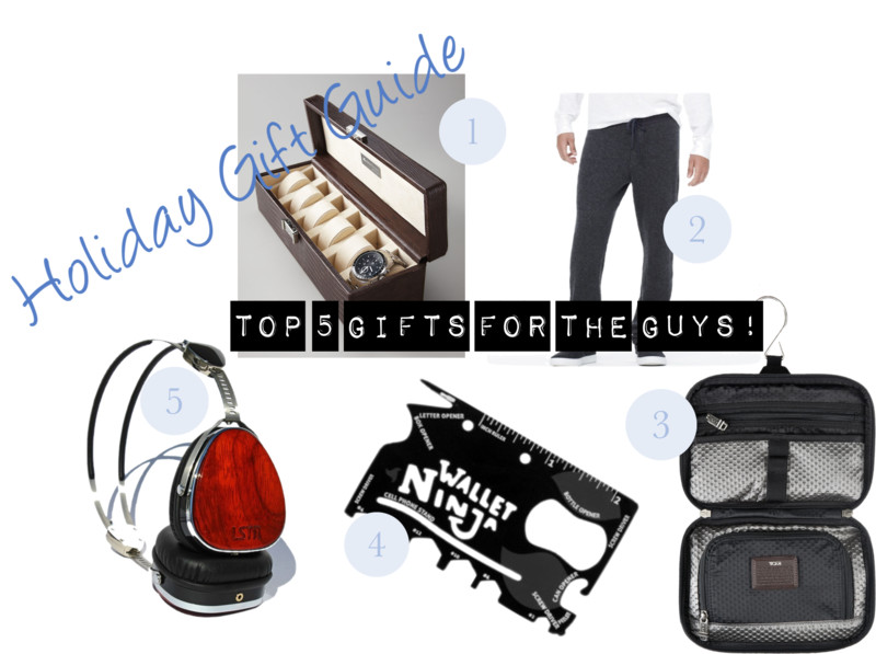 Holiday Gift Guide: Top 5 Gifts for Guys!
